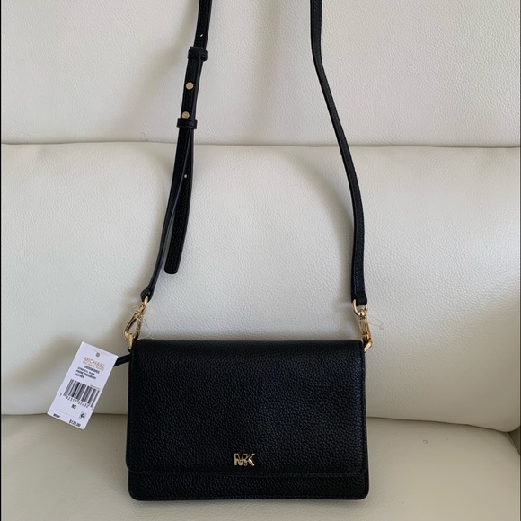 Michael Kors Handbags - Michael Kors Black Phone Crossbody Leather Bag